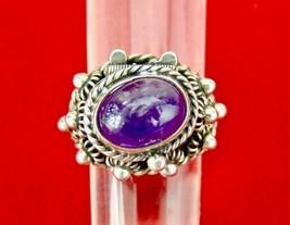Vintage Taxco Modernist Sterling Silver & Purple Amethyst Poison Locket ... - $93.33