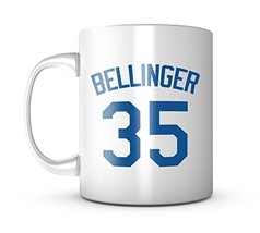 An item in the Sports Mem, Cards & Fan Shop category: Cody Bellinger Mug - Jersey Number Baseball Coffee Cup