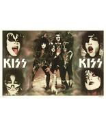 KISS Rock Band 24 x 36 RARO Photo set Faces Custom Collage Poster - Memo... - $55.00