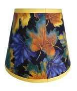 Autumn Fall Leaves Custom Made Fabric Handcrafted Lamp Shade 6 x 10 x 8 - $39.59