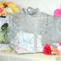 Silver Wedding Card Box Reception Gift Card Holder Bridal Shower Baby sh... - $42.55
