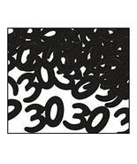 "Club Pack of 12 Black Fanci-Fetti ""30"" Celebration Confetti Bags 0.5 oz. - $46.03"