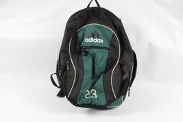 Vtg 90s Adidas Spell Out Big Logo Soccer Athletic Bag Backpack Green Bla... - $28.66