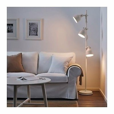 IKEA Hektar Floor Lamp With 3-Spotlights Beige
