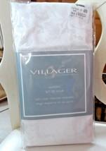 "Set of 4 Villager Napkins white/pearl 19"" x 19"" NIP - $7.00"