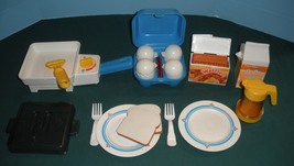 Fisher Price Fun w/Food #2115 Super Skillet Breakfast Comp+ BONUS./EXC++... - $85.00