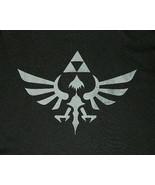 Nintendo Zelda Princess Triforce Logo Black T-Shirt Size XL NEW UNWORN - $14.50