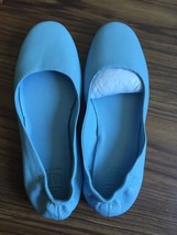 Pre-owned Tory Sport Cadet Blue Packable Ballet Flats SIZE 6M - $99.00