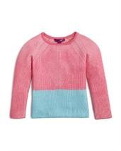 Aqua Girls' Color Block Ribbed Sweater, Size 2. - $19.79