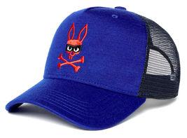 Psycho Bunny Men's Embroidered Snapback Mesh Mischief Baseball Cap Hat image 4