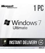 Microsoft Windows 7 Ultimate - Retail 32-Bit 64-Bit 60sec Delivery Win7u... - $25.99