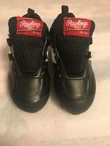 Rawlings Boys Black Lace Sports/Baseball/T-Ball Cleats Size 11. Black Wi... - $10.88