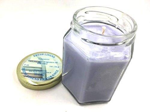 Candle fresh linen glass jar 5 oz