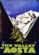 "16x20""Decor Poster.Home Room Interior design.Travel Italy.Ski Aosta Vall... - $17.77"