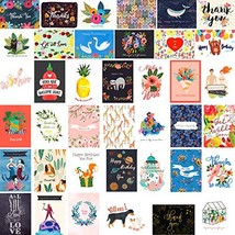 Fresh & Lucky 40 Greeting Cards Stationery Assortment - Premium Quality ... - $13.78