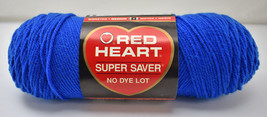 Red Heart Super Saver Worsted Medium Weight Yarn - Partial Skein Blue #886  - $5.94