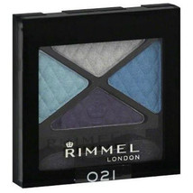 Rimmel Eye Shadow Quad, State of Grace 021 frosted blue full size Glam Eyes - $7.99
