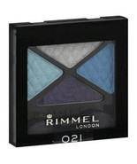 Rimmel Eye Shadow Quad, State of Grace 021 frosted blue full size Glam Eyes - $6.99