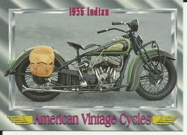 "1936 Indian- card from ""American Vintage Cycles""  Promo Card #16 - $12.00"