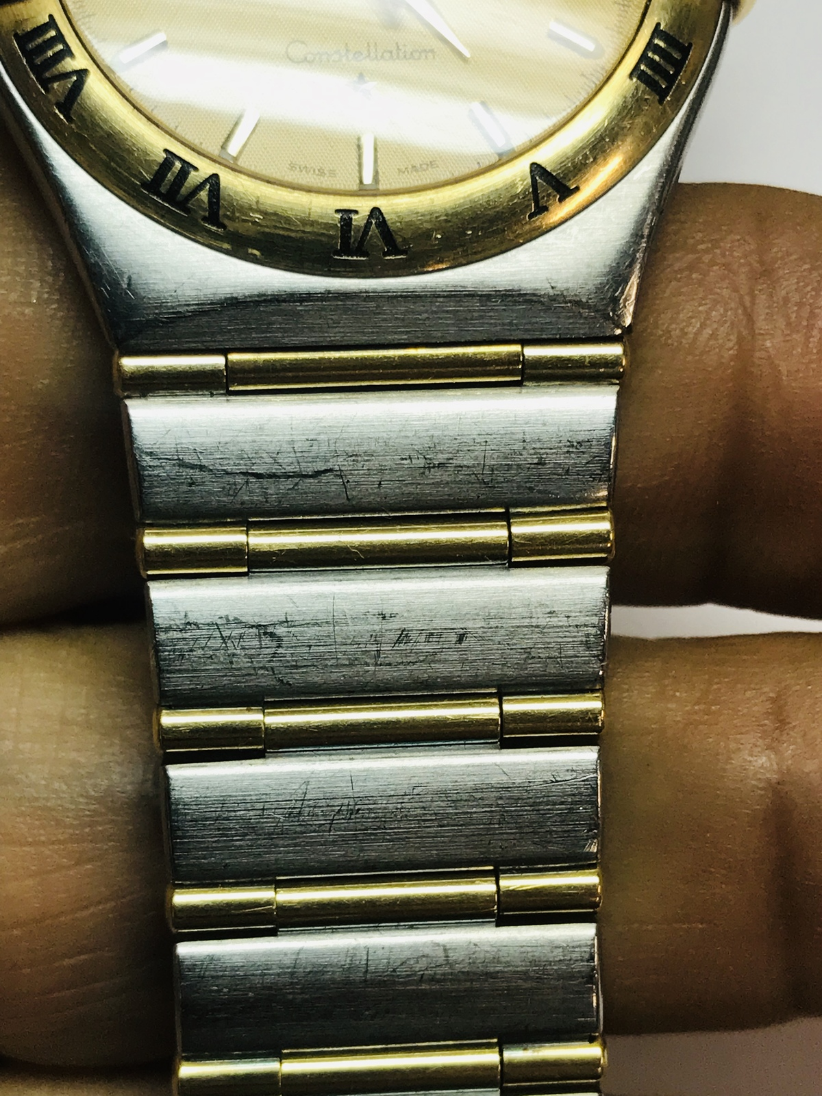 14k gold Watch ladies,14k yellow and stailess steel Omega watch ,  watch1