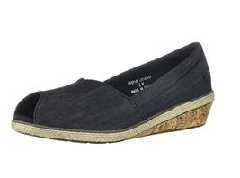 Grasshoppers Women's Garnet PEEP Toe Sneaker Black, Size 8.5 Med - $29.69