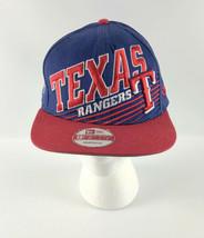 Texas Rangers Snapback Baseball Hat New Era 9Fifty Blue Red  - $34.64