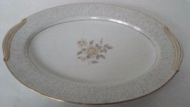 Noritake China Platter Alberta White with Gold Trim - $62.15