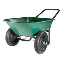 Garden Beautification Tool Five Cubic Foot Poly Dual-Wheel Residential Y... - $67.86