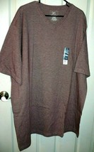 George Men's Short Sleeve Jersey V-Neck Tee Shirt Size 3XL 54-56 Red Win... - $8.55