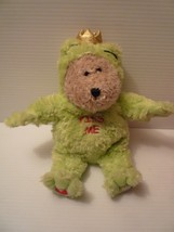 "STARBUCKS  2004 Frog Prince ""KISS ME"" Plush Stuffed Bearista Teddy Bear 29th - $12.87"