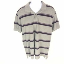 GAP Gray & Purple Polo Shirt Short Sleeve XL Extra Large Mens Cotton - $17.82