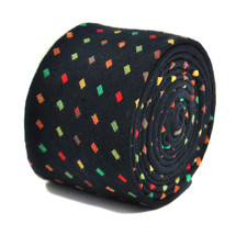 Frederick Thomas navy and multi coloured dotted 100% cotton tie FT2148 RRP£19.99