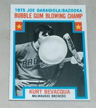 1976 Topps #564 Kurt Bevacqua 1975 Joe Garagiola Bazooka Gum Blowing Cha... - $9.21