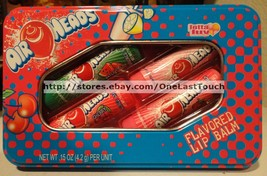 LOTTA LUV 5pc Tin Set AIR HEADS Lip Balm WATERMELON+CHERRY+STRAWBERRY+MO... - $8.90
