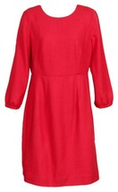 J Crew Women's Collection Italian Wool Dress Red Sz 8 98802 - $119.59