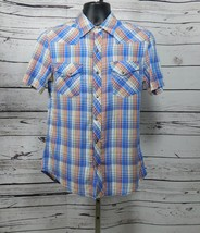 Salt Valley Western Mens Plaid Casual Snap Button Shirt Size: M