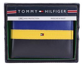 Tommy Hilfiger Men's Leather Wallet Passcase Billfold Rfid Navy Black 31TL220053 image 1