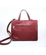 WILSONS Red Leather Crossbody, Shoulder, Messenger Bag, Organizer Pockets - $28.00