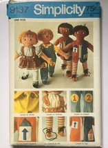 """Simplicity 'Learn to' 24"""" Rag Dolls Uncut Sewing Pattern 9137 Vintage 1970 - $13.71"""