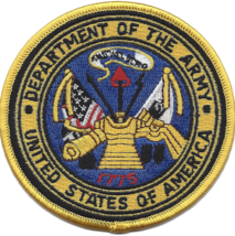 "3.5"" DEPARTMENT OF THE ARMY EMBLEM EMBROIDERED PATCH - $23.74"