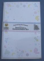 Gartner Create Your Own Baby Invitation Announcement Kit Trinket 12 shee... - $11.65