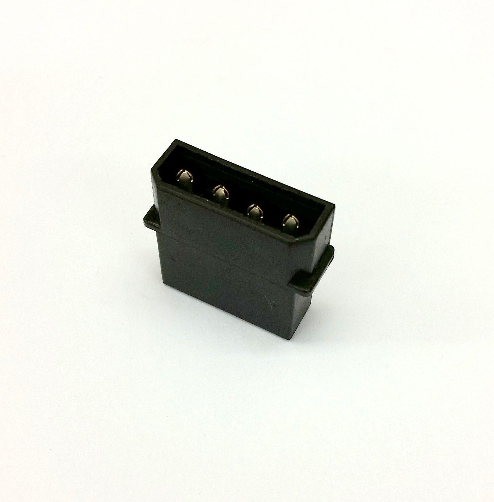 Paquete De 10 - macho 4 Pines MOLEX PC Fuente alimentación PSU Conector - Negro