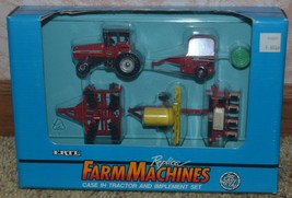 NIB ERTL  FARM MACHINES CASE IH TRACTOR AND IMPLEMENT SET - $46.74