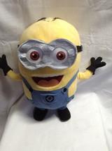 """Minion Despicable Me Goggles Plush 14"""" tall Universal Studios DAVE - $10.56"""