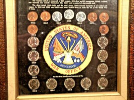 WARTIME COINAGE FRAMED Collectible Coins WWII Era AA19-CN6037 image 2