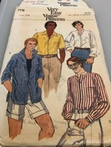 1970's Vtg Vogue Men's Shirt Pattern 7118 Size 38 Uncut - $12.79