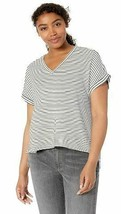 Amazon Brand Daily Ritual Women's Supersoft Terry Deep V-Neck Roll-Sleeve Shirt image 1