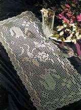 Easter Bunny Hop & Romp Mats Crochet DOILY Rare Bird Curtain Pattern - $6.99