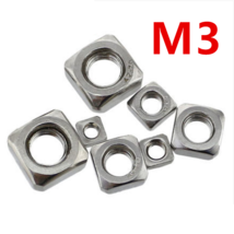 200pcs/lot High Quality 304 Stainless Steel A2-70 M3 Square Nut free shipping - $17.95