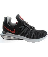 NIKE SHOX GRAVITY MEN'S BLACK/RED RUNNING SHOES #AR1999-016 - $59.99